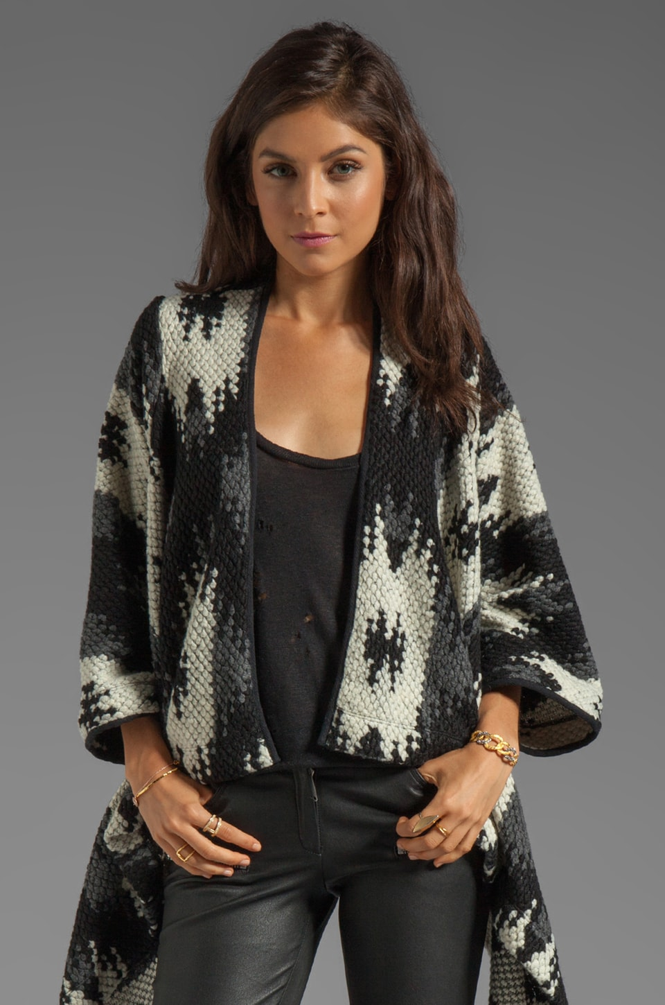 Dolce Vita Kadias Edgy Wool Sweater in Black Multi