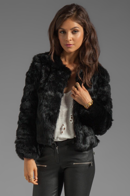 Dolce Vita Luxor Rabbit Fur Jacket in black