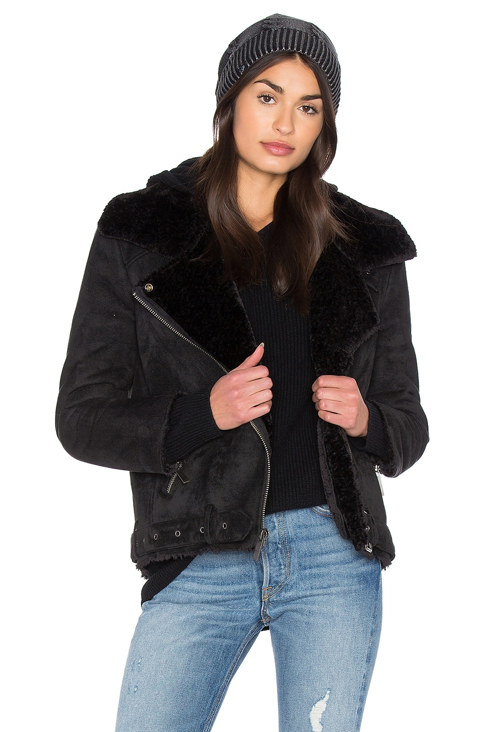 Veronica Jacket With Faux Fur Lining at REVOLVE
