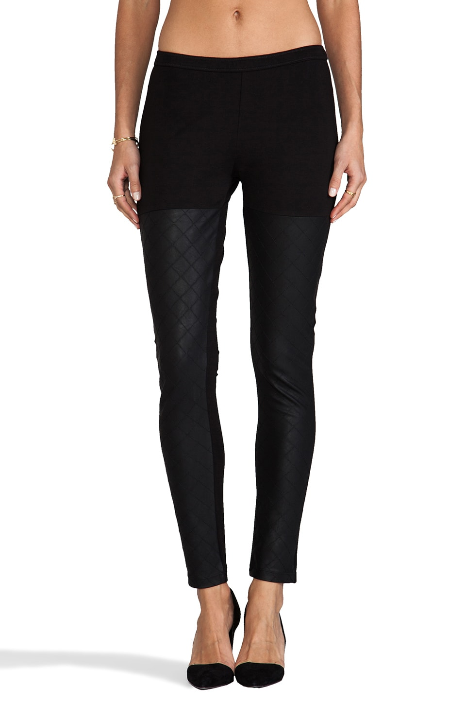 Dolce Vita Monsoon Faux Leather Legging in Black