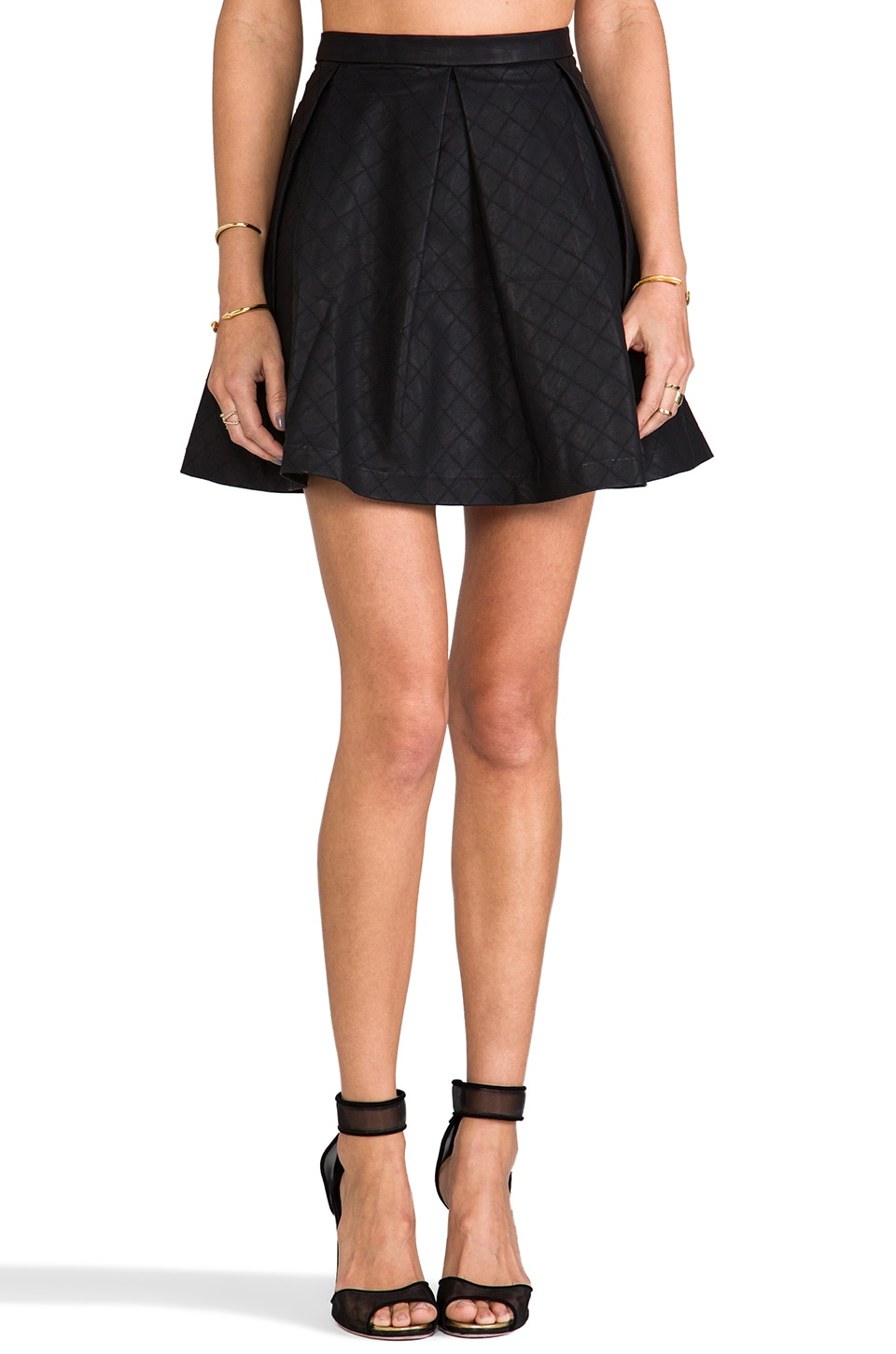 Dolce Vita Marin Faux Leather Skirt in Black