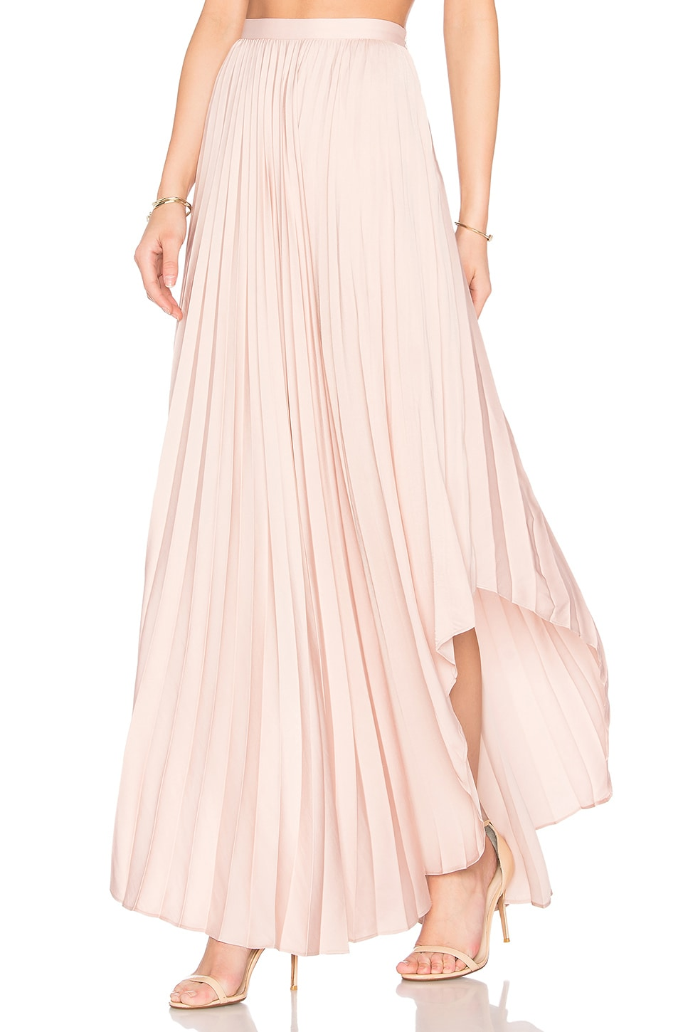 Dolce Vita Camryn Maxi Skirt in Dusty Rose