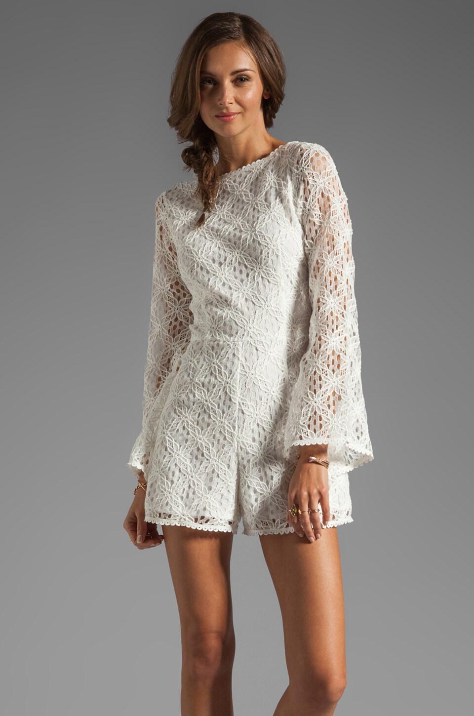 Dolce Vita Seni Crochet Lace Romper in White