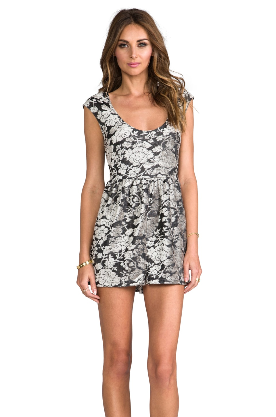 Dolce Vita Preena Rose Burnout Romper in Taupe