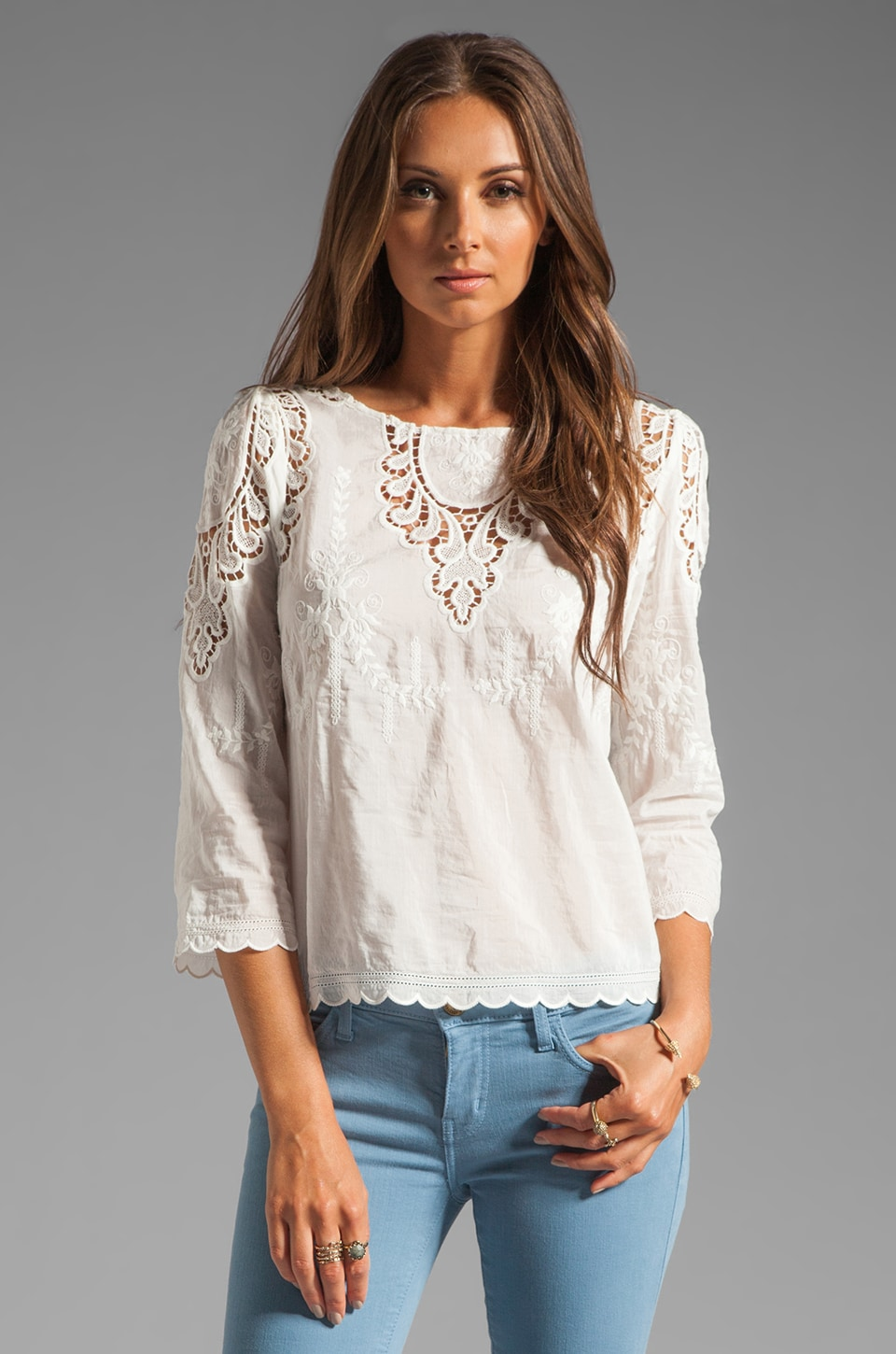 Dolce Vita Alma Top in White