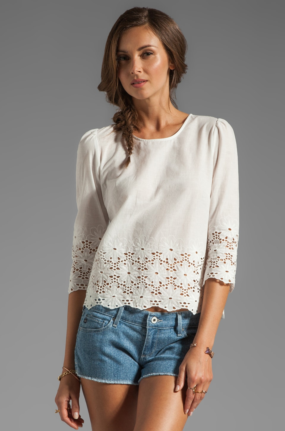 Dolce Vita Rosie-Leigh Hem Daisy Top in White