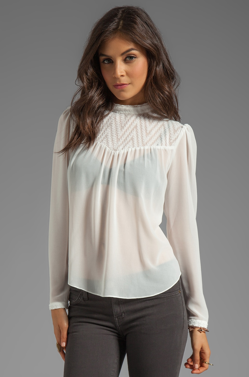 Dolce Vita Zenner Zigzag Dobby Top in White