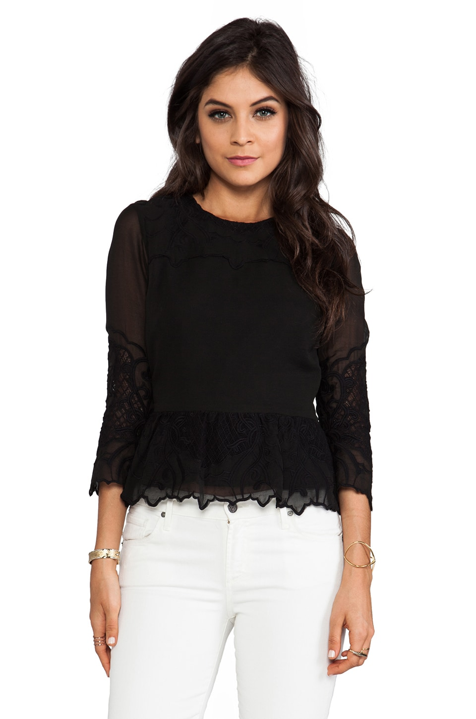 Dolce Vita Amada New Baroque Top in Black