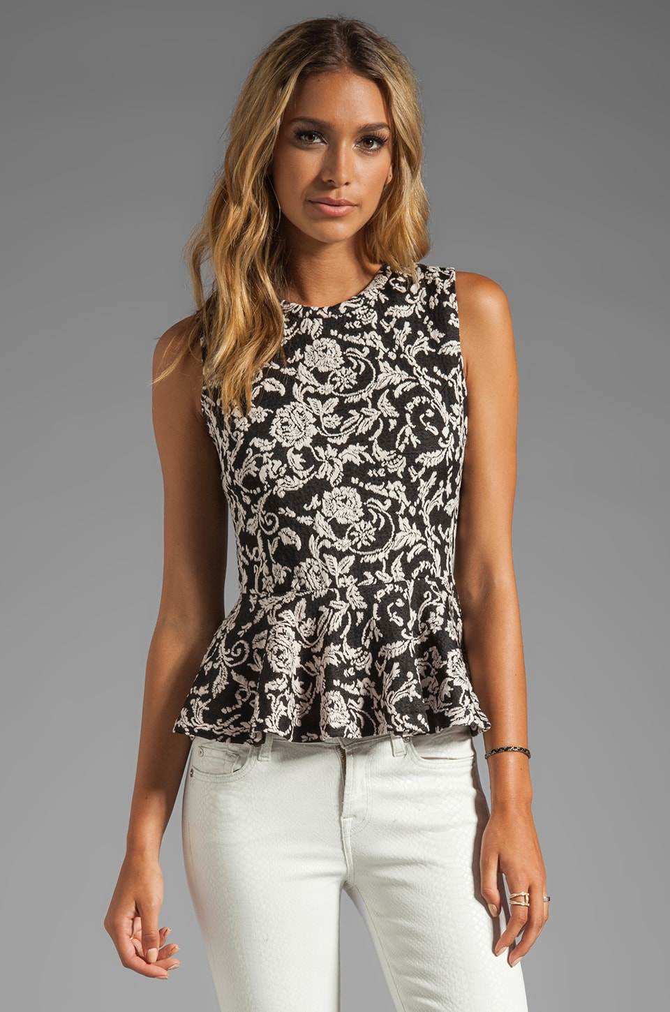Dolce Vita Tiffany Scroll Ponte Top in Black