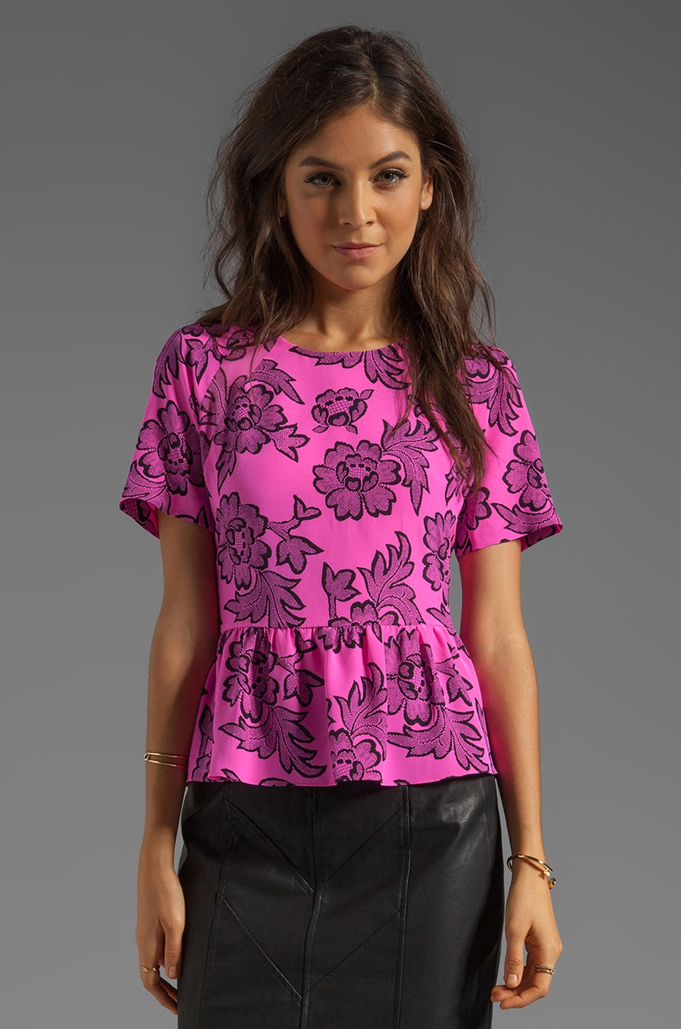 Dolce Vita Moray Vivaldi Top in Pink/Black