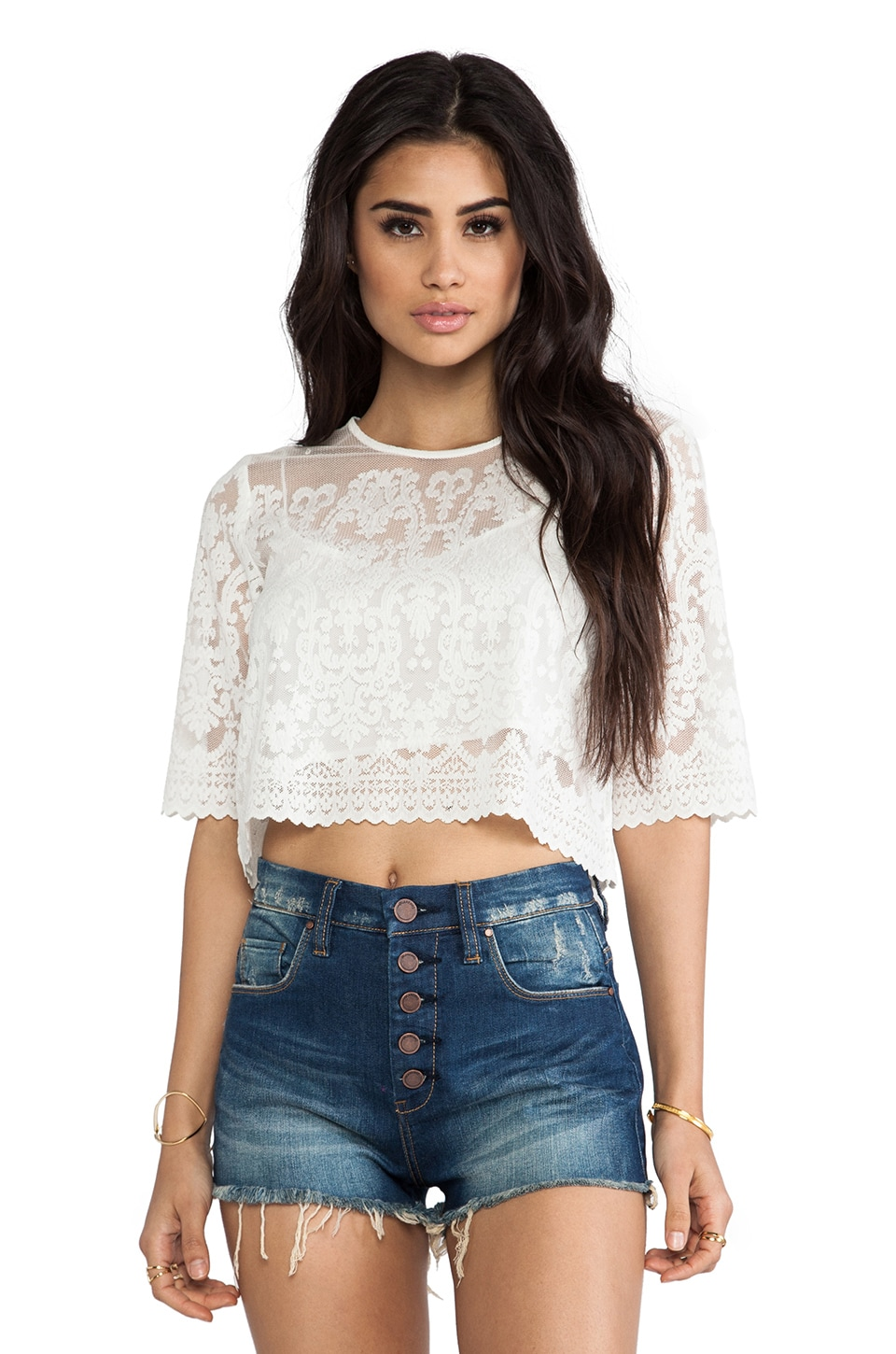 Dolce Vita Zita Top in Snow