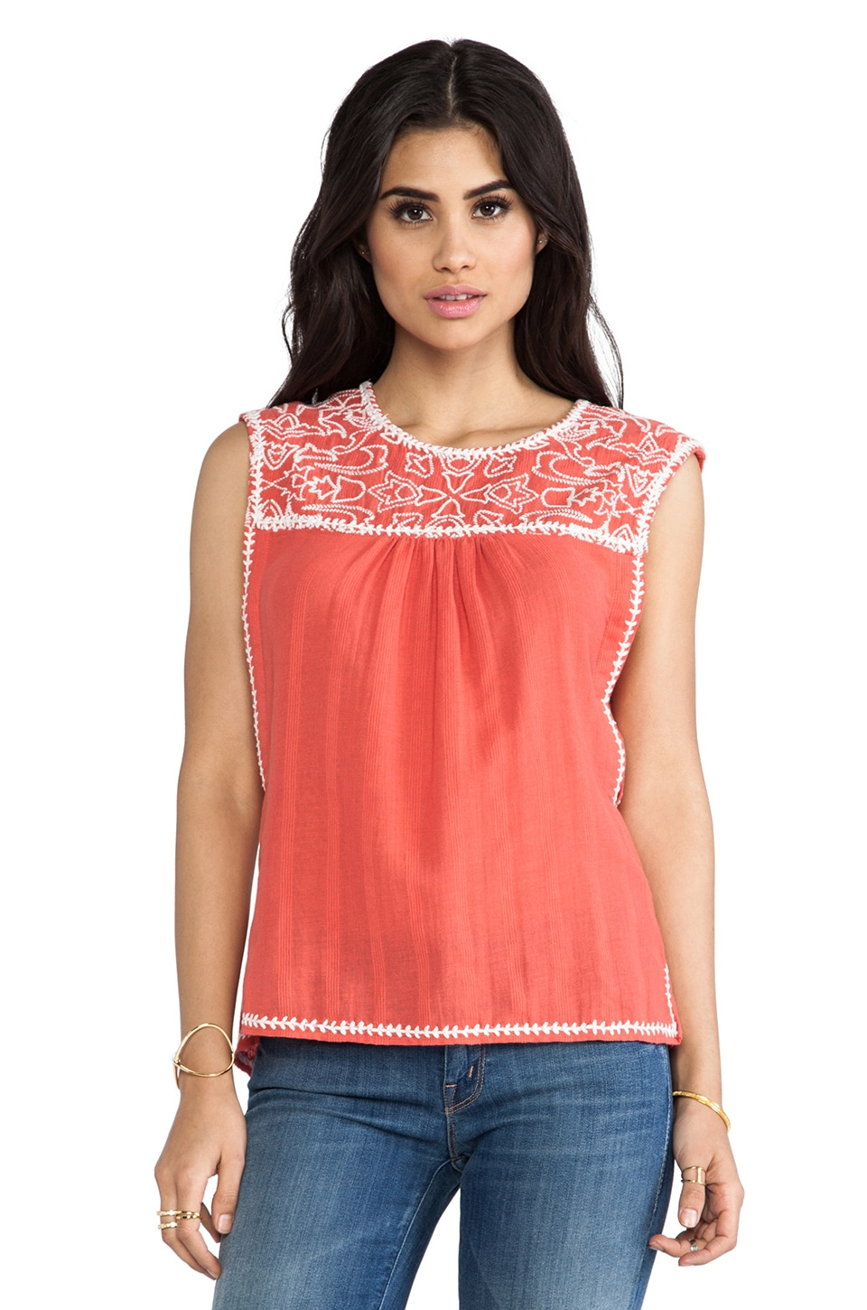 Dolce Vita Careen Top in Burnt Coral