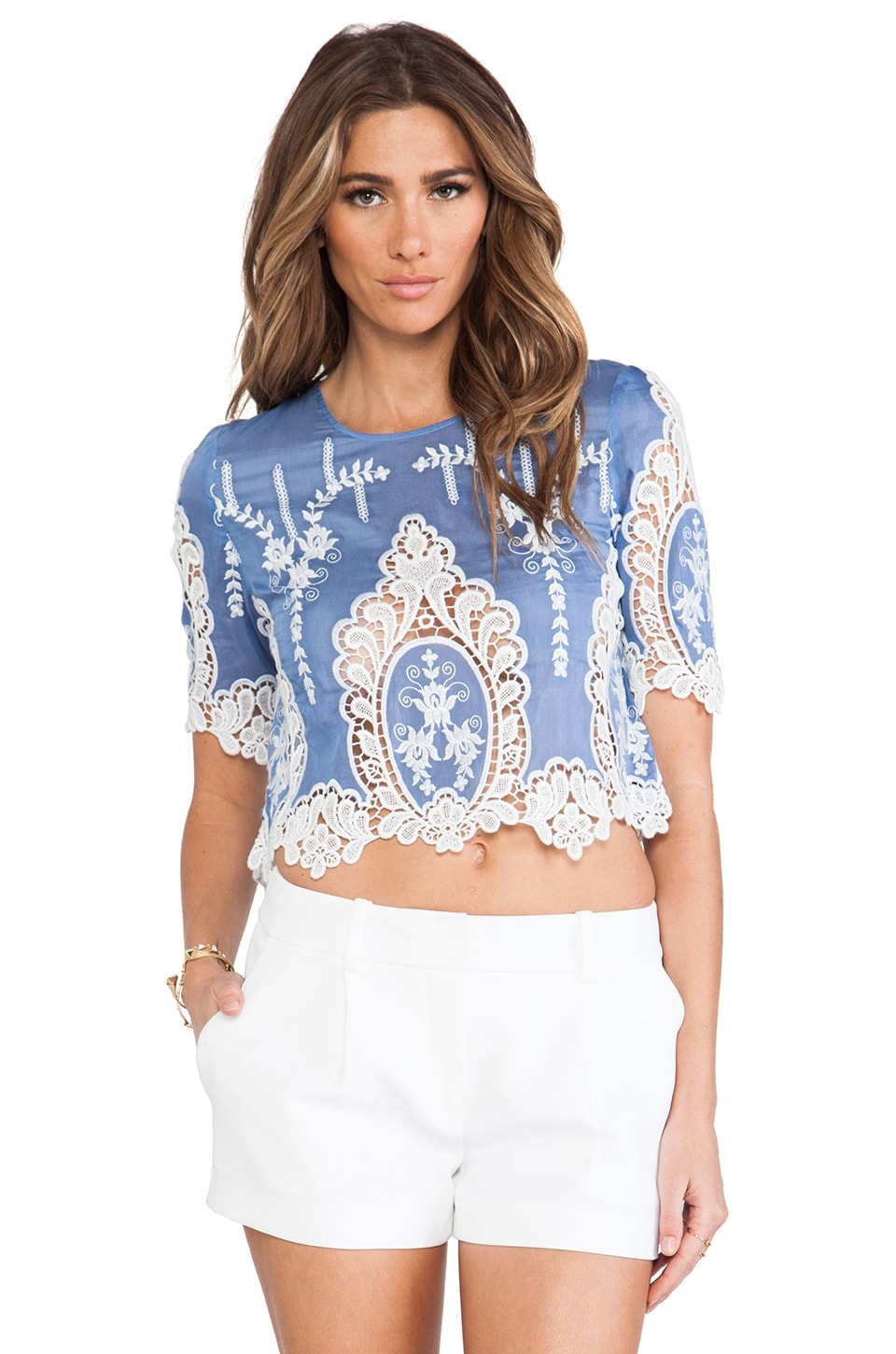 Dolce Vita Deanna Top in Dusty Blue
