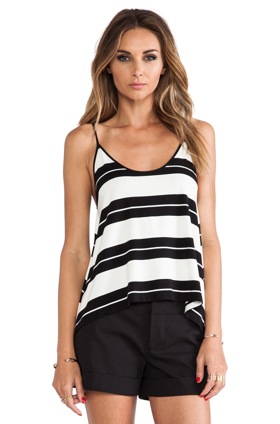 Dolce Vita Lorainne Top in Black Stripe