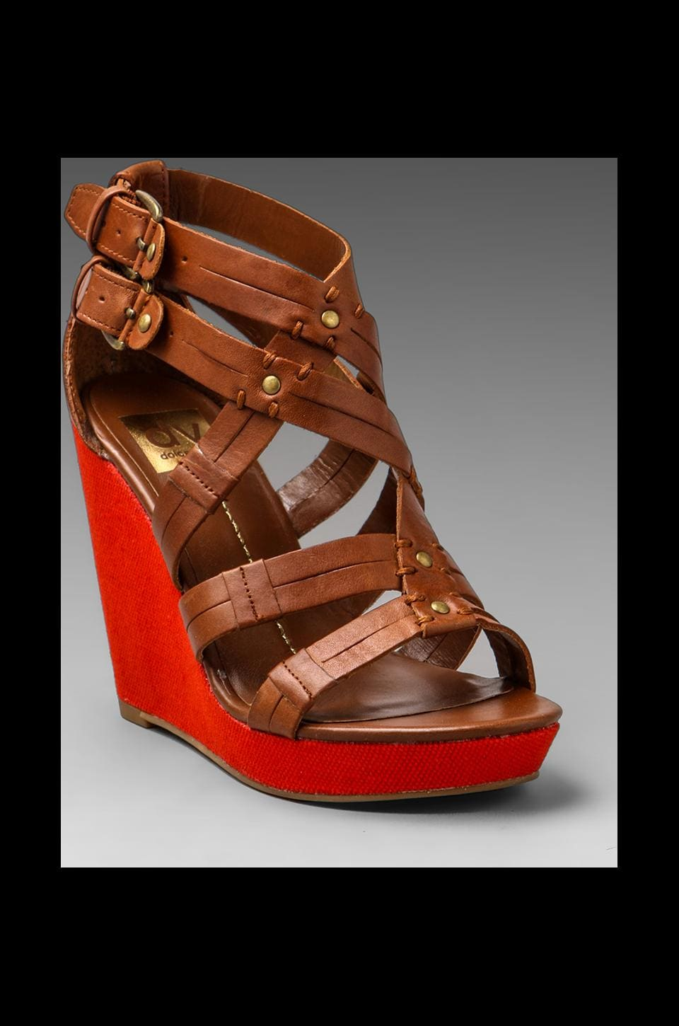 Dolce Vita Telsa Wedge Sandal in Cognac