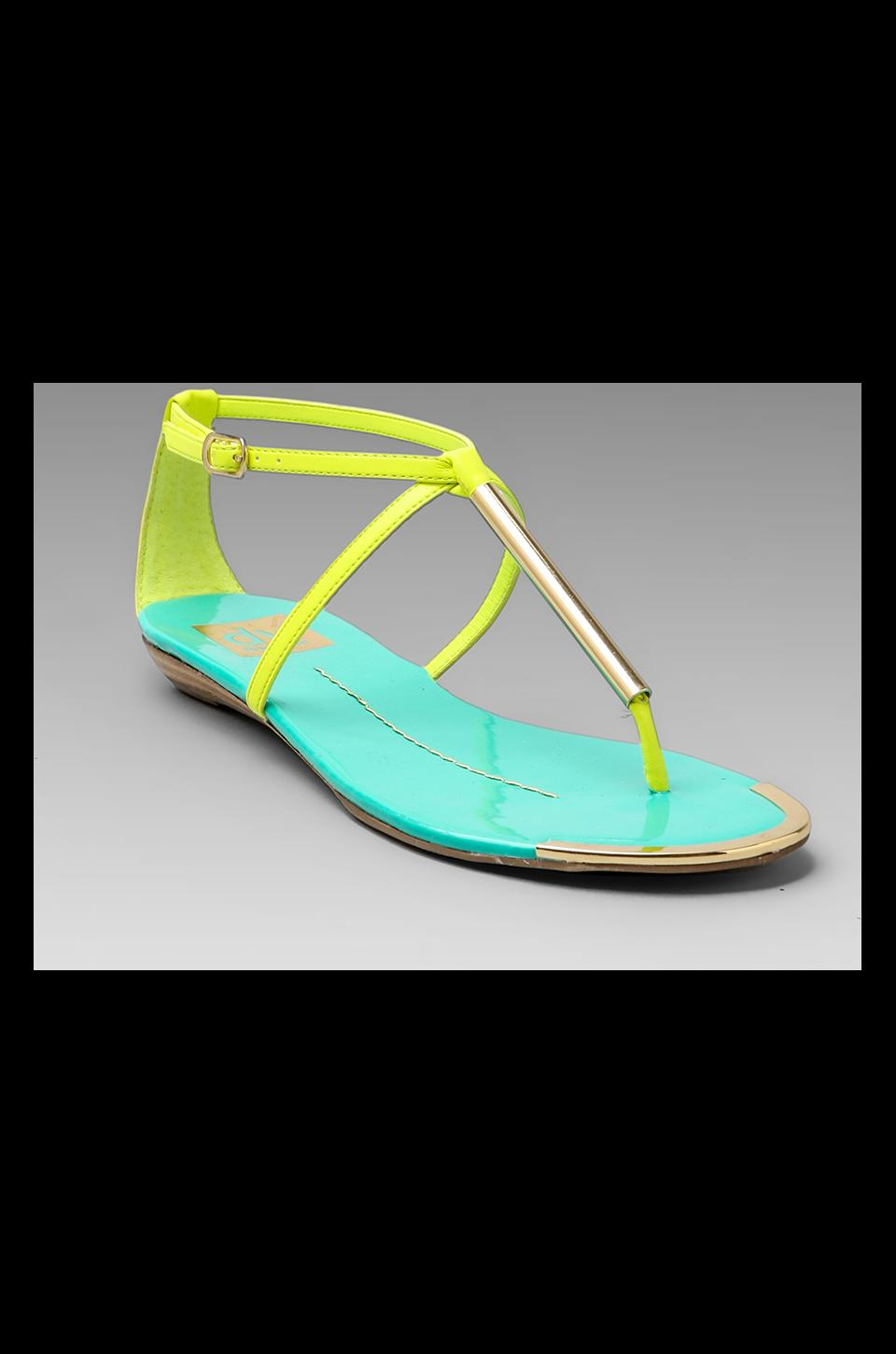 Dolce Vita Archer Sandal in Acid Yellow