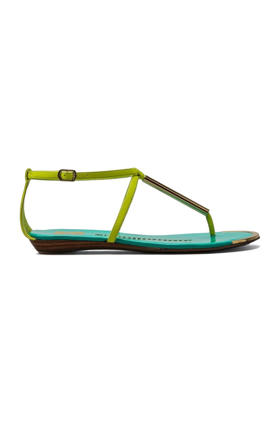 Dolce Vita Archer Sandal in Acid Yellow/Teal