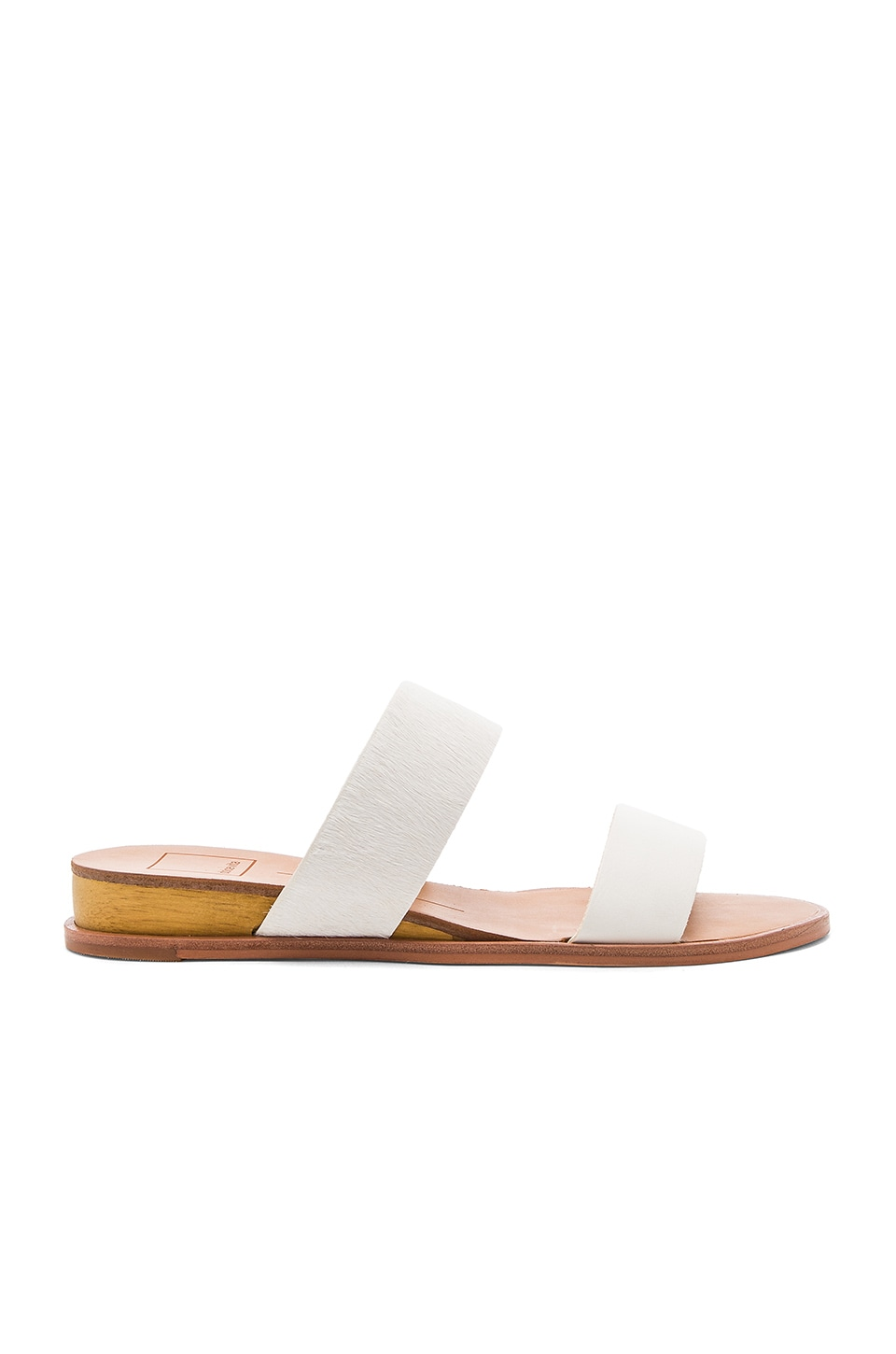 Dolce Vita Payce Cow Hair Sandal in White