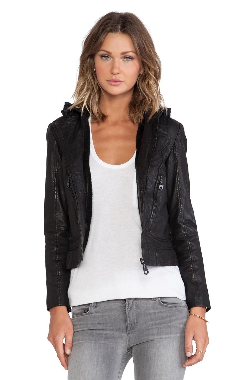 DOMA Hoodie Jacket in Black