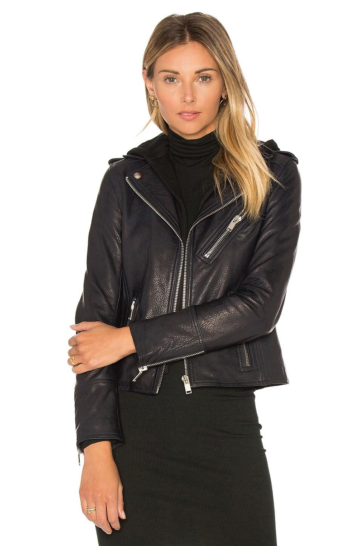 Detachable Hood Moto Jacket by DOMA