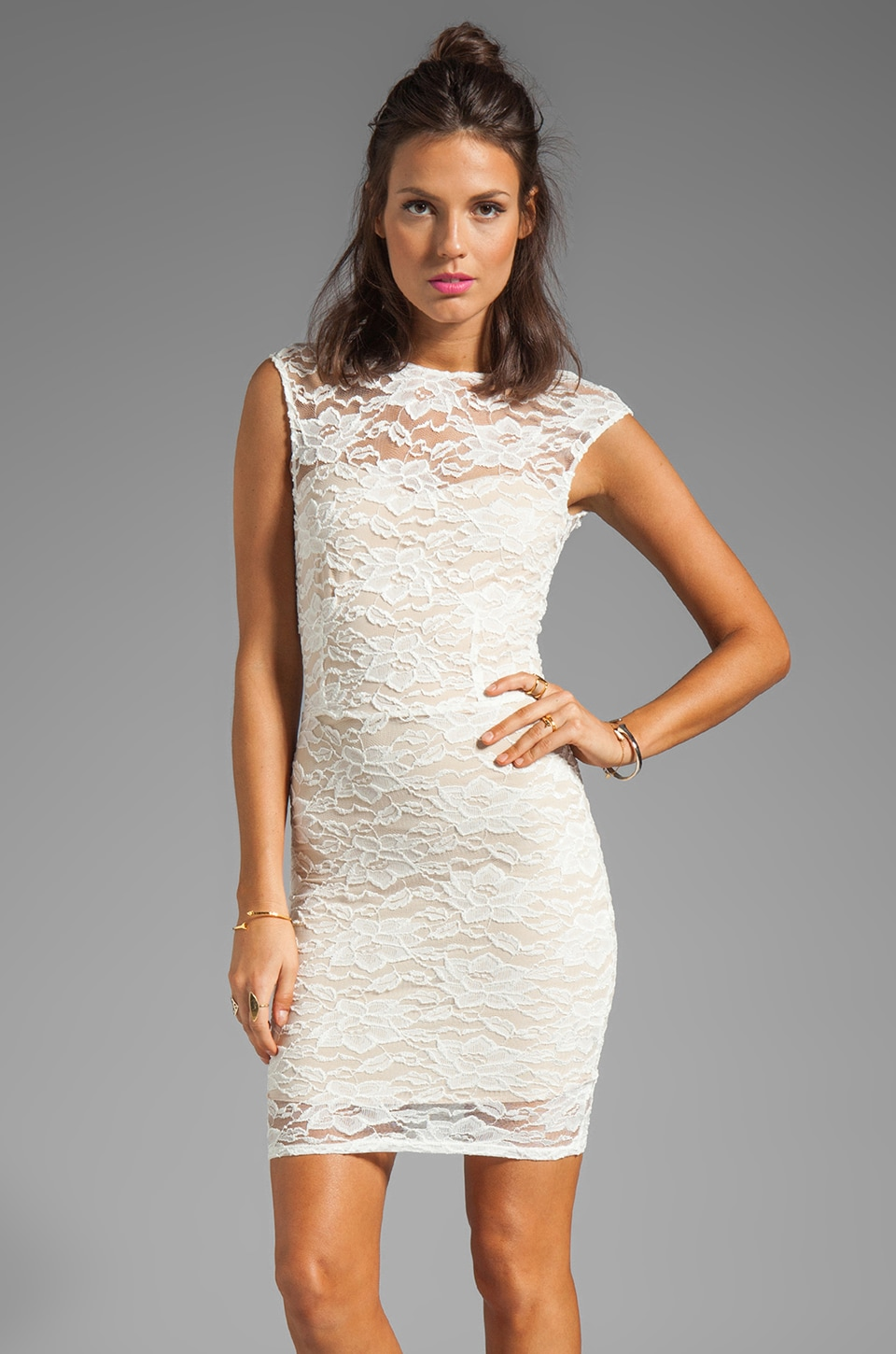 Donna Mizani Passion Scoop Back Dress in Ivory