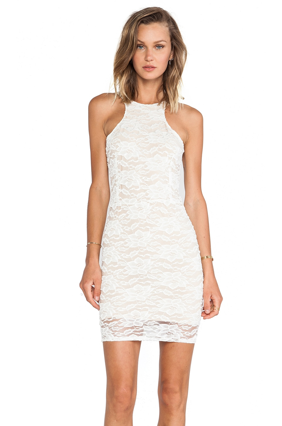 Donna Mizani Passion Cut Out Dress in Ivory