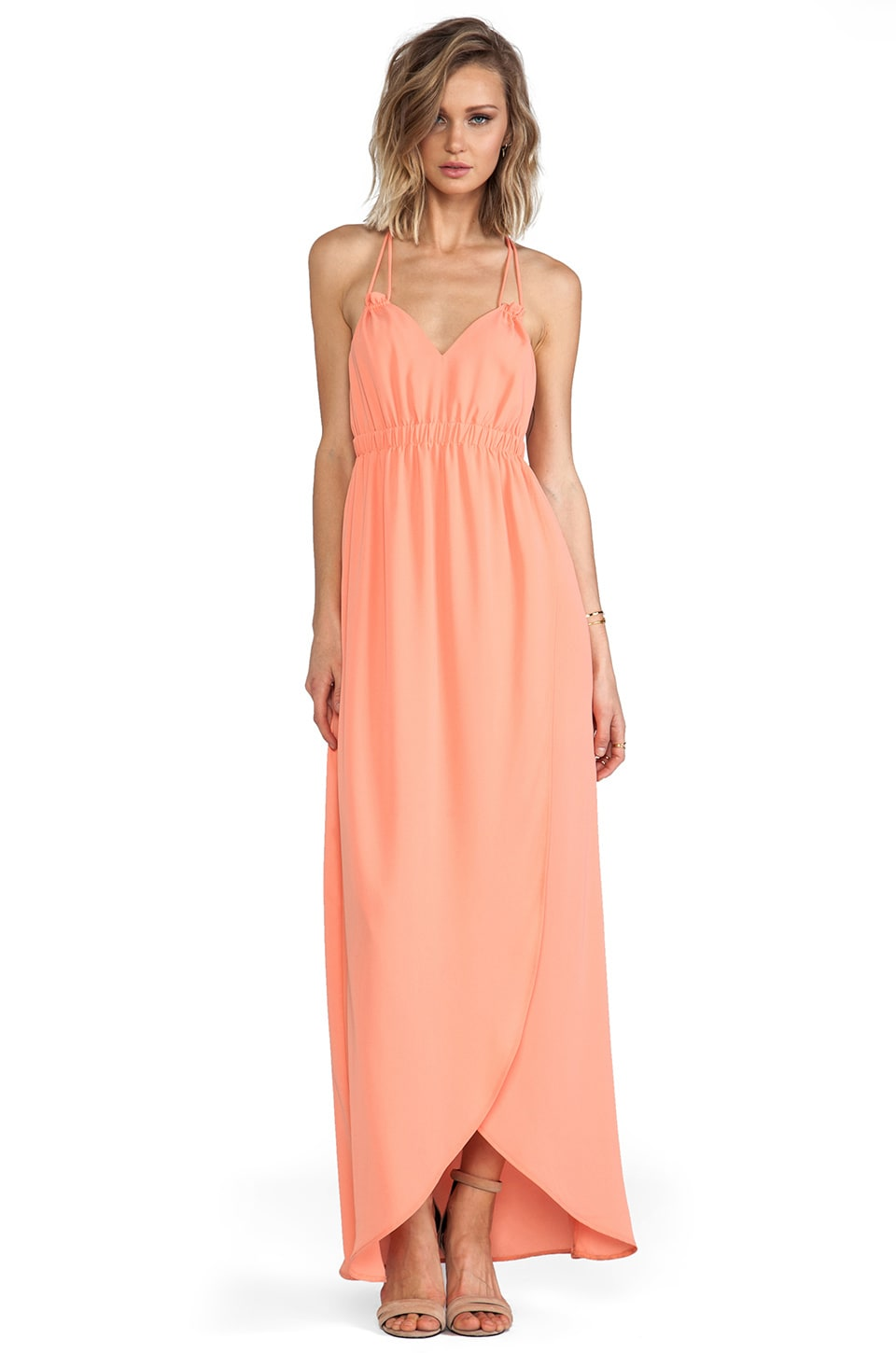 Donna Mizani Tulip Gown in Peach