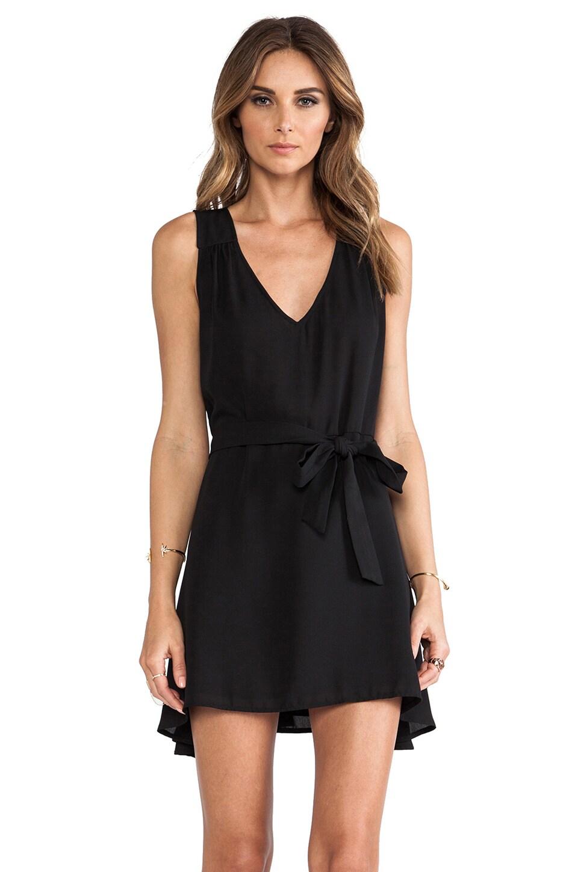 Donna Mizani Side Tie Flounce Dress in Caviar