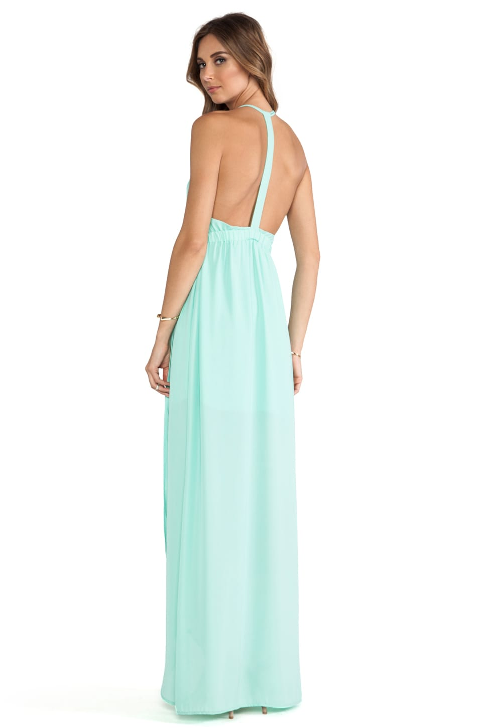 Donna Mizani Tulip Gown in Mint Cream