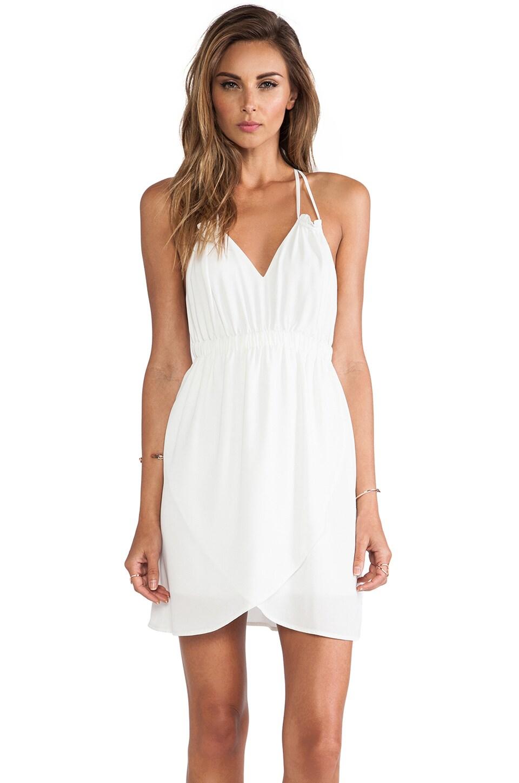 Donna Mizani Tulip Mini Dress in White
