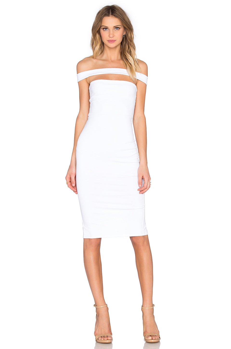 Strapped Midi Dress by Donna Mizani