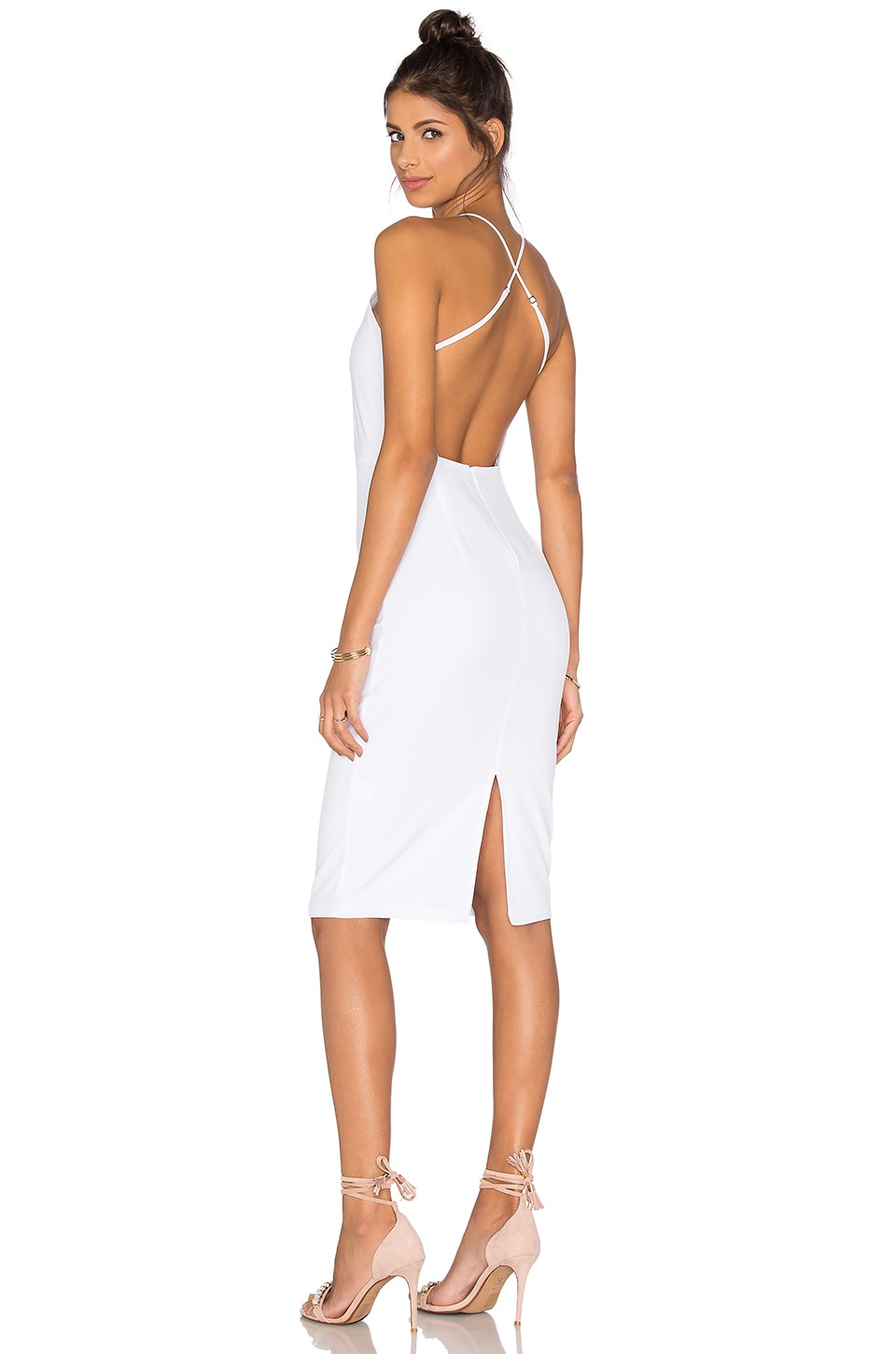 Square Neck Midi Dress by Donna Mizani