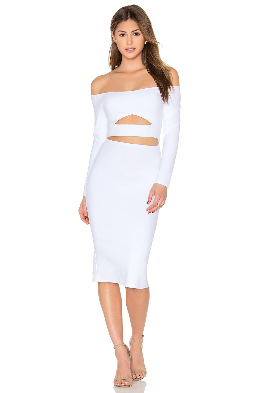 Long Sleeve Marilyn Cut Out Midi Dress by Donna Mizani
