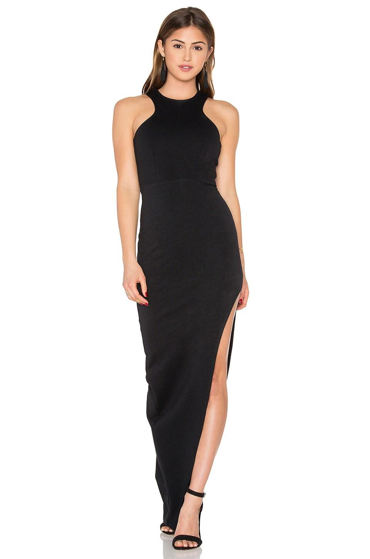Maxi dress slit front