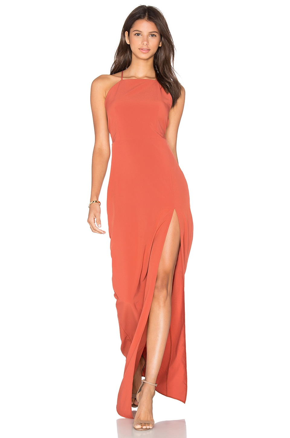 Square Neck Maxi Dress by Donna Mizani