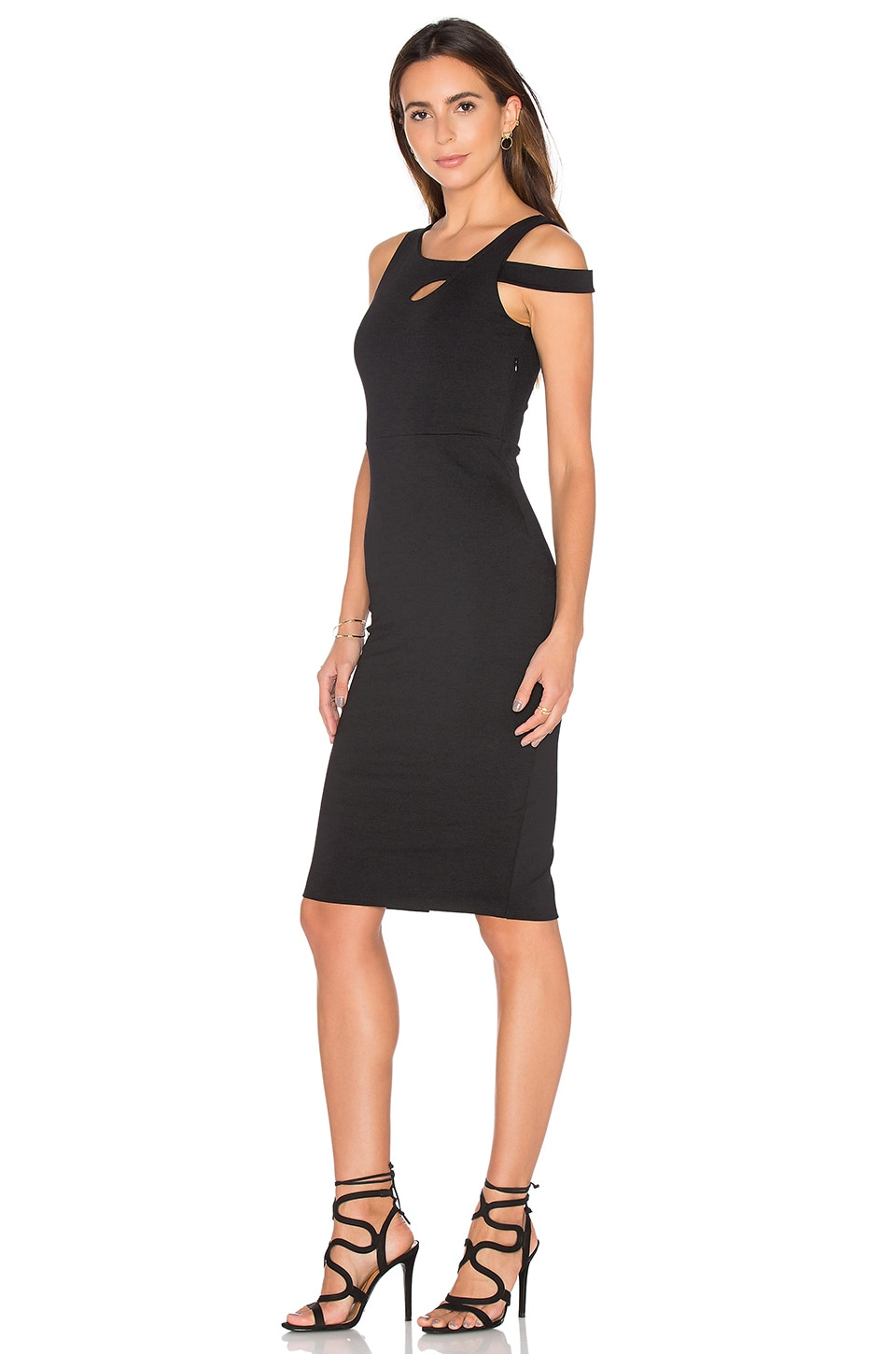 Cold Shoulder Midi Dress by Donna Mizani