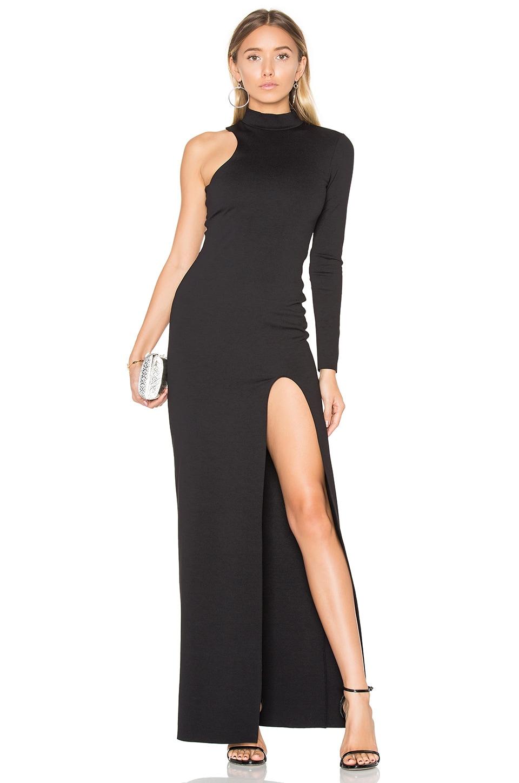 One Sleeve Mock Neck Maxi Dress by Donna Mizani
