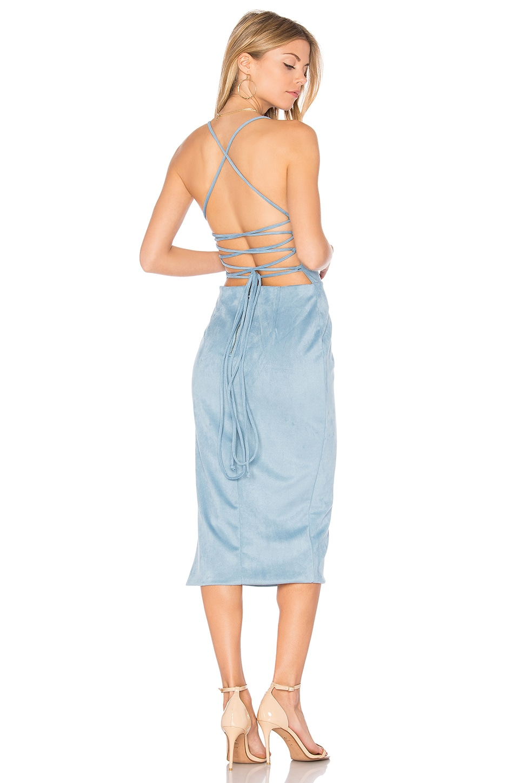 Donna Mizani Abby Midi Dress in Powder Blue