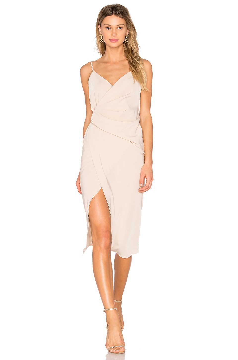 Donna Mizani Leona Hi Low Dress in Oyster