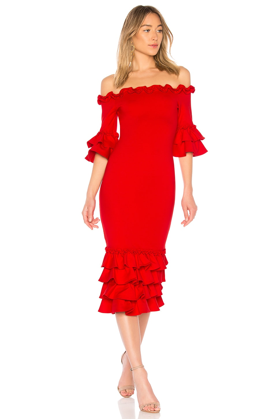 Donna Mizani x REVOLVE Pishi Midi Dress in Red
