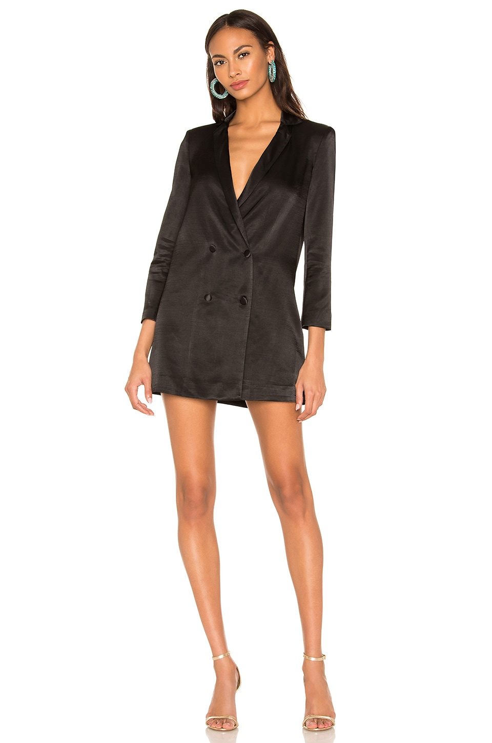 Donna Mizani  DONNA MIZANI BRODY DRESS IN BLACK.
