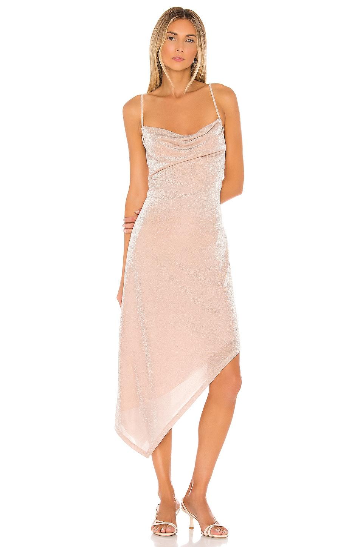 Donna Mizani Carrie Midi Dress in Nude
