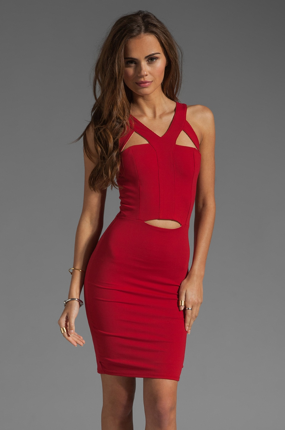 Donna Mizani Ultra Soft Harness Dress in Red