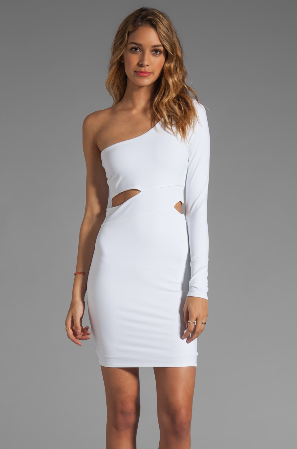 Donna Mizani Ultra Soft Classic Cut Out Dress in White