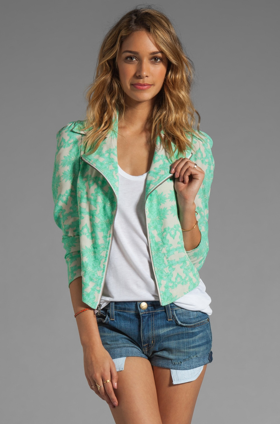 Donna Mizani Ultra Cool Moto Blazer in Ohana