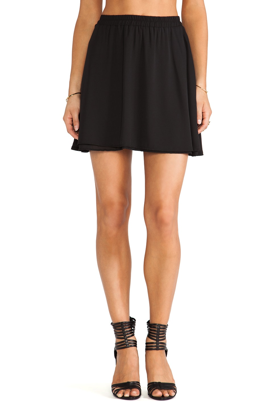 Donna Mizani Circlet Skirt in Black