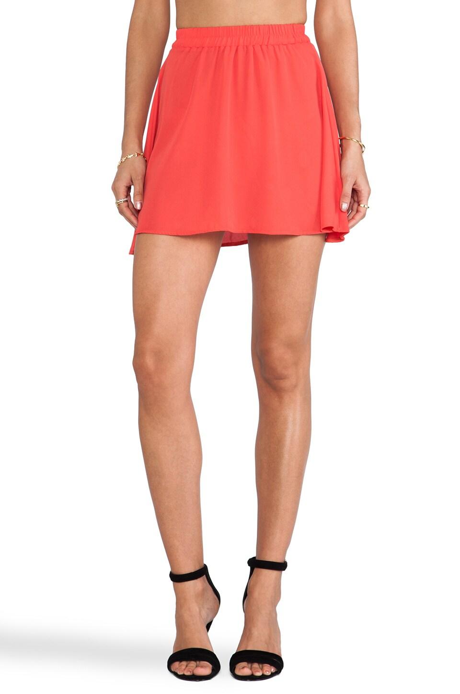 Donna Mizani Circlet Skirt in Hot Red