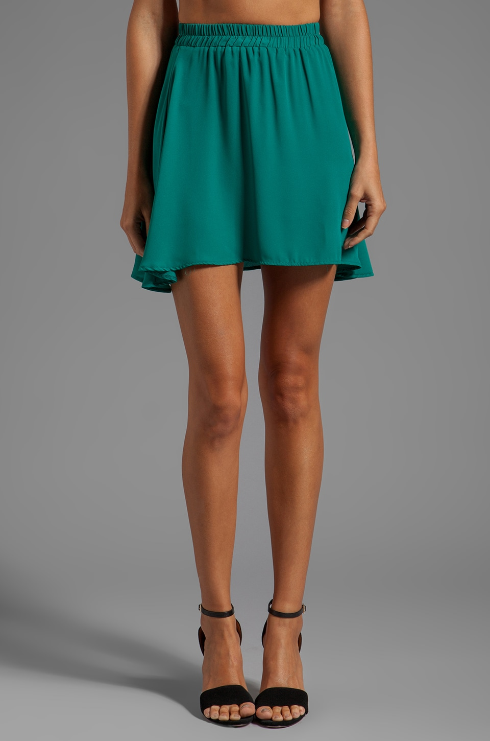 Donna Mizani Circlet Skirt in Jade