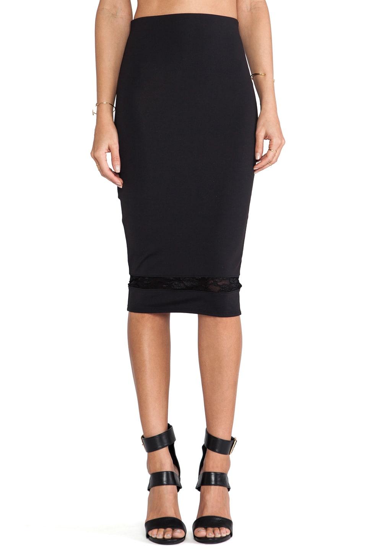 Donna Mizani Mid Length Skirt in Caviar