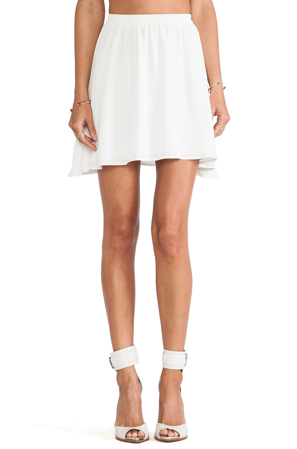 Donna Mizani Mini Circle Skirt in White